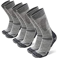 DANISH ENDURANCE Merino Wool Hiking Socks Crew for Summer & Fall, Trekking, Performance, Outdoor, Men Women Kids, Multi 1/3 Pairs