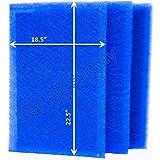 rayair供給20 x 25 pureairx Air Cleaner交換フィルタパッド20 x 25 Refills ( 3パック)ブルー