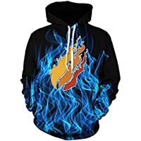 Legyany Youth Preston Fire Nation Playz Gamer Flame Hoodie Sweatshirts for Kids