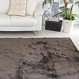 なかね家具 ふわふわ 洗えるシャギー ラグ すべり止め 床暖対応 シャギーラグマット ほっとカーペット対応 長方形 130×185 ブラウン 583rarujyu