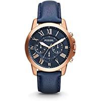 Fossil Men's Grant Analog Analog-quartz Blue Watch, (FS4835)