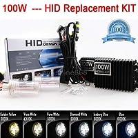 FidgetGear 車100W HIDキットヘッドライト変換キセノンライトヘッドランプ交換用電球H4 1x隠しキット(電球+バラス)