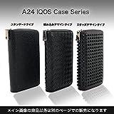 A24 アイコス ケース IQOS 2.4 plus 2本収納 財布 兼用 (最大カード6枚、お札収納可) PU レザー オールインワン 2in1 (ブラック)