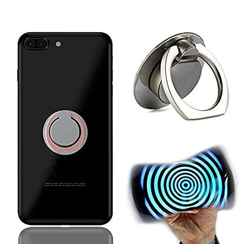 Xingshangマホ 携帯 アルミ ホルダー リング型 スタンド スマホ リング ハンドスピナー 指スピナースマホ / 携帯 ホルダー リング型 ストレス解消 落下防止 360度回転 iPhone / Galaxy / Xperia 多機種対応 (Silver)