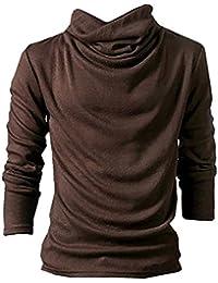 ( Make 2 Be ) ボリュームネック ロング シャツ アフガン タートルネック Tシャツ メンズ 長袖 ハイネック カットソー 無地 インナー MF67