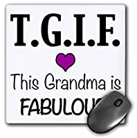 3drose TGIFこのおばあちゃんは素晴らしいです、紫–マウスパッド、8× 8インチ( MP _ 202948_ 1)