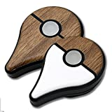 ポケモン GO PLUS 用 スキンシール カバー シール ケース 高級素材 側面対応 丈夫で長持ち 保護 木目調 ナチュラルウッド 高級感のある手触り 切れ込みがなく 簡単に貼り付け可能