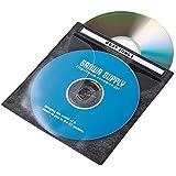 サンワサプライ DVD CD不織布ケース 2枚収納×100 ブラック FCD-FN100BKN