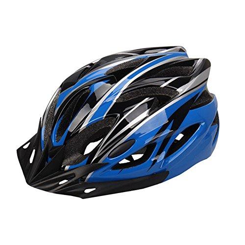自転車 ヘルメット サイクリング ロードバイク クロスバイク スポーツ 通勤 大人 男女兼用 超軽量 高剛性 通気 サイズ調整可能 (蓝)