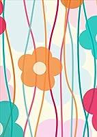 ポスター ウォールステッカー シール式ステッカー 飾り 89×127㎜ L版 写真 フォト 壁 インテリア おしゃれ  剥がせる wall sticker poster フラワー 花 フラワー 模様 005801