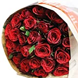 [エルフルール] ベストセラー1位獲得 赤バラの花束 30本 カラー:レッド 結婚記念日 プレゼント 薔薇 誕生日祝い 贈り物 バレンタイン 卒業 退職