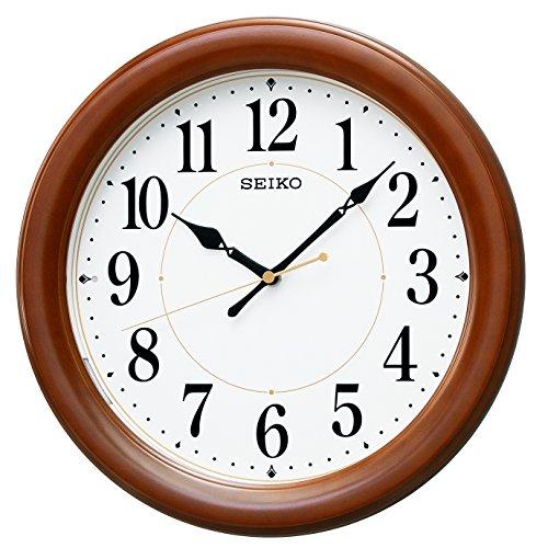 セイコー クロック 掛け時計 自動点灯 電波 アナログ 夜で...