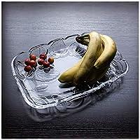 XX_C フルーツバスケット クリスタルガラスフルーツプレートクリエイティブキャンディディッシュスナックプレートフルーツディッシュスナックプレートドライフルーツボウルホテル -キッチン用品・食器