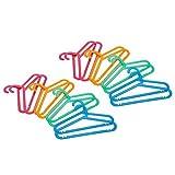IKEA BAGIS 30169728 子供用コートハンガー 4色 16本セット