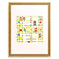 ピエト・モンドリアン Piet Mondrian 「ブロードウェイ ブギ=ウギ Broadway Boogie-Woogie. 1942.」 額装アート作品