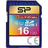 シリコンパワー SDHCカード 16GB Class10 UHS-1対応 最大読込速度85MB/s 防水 永久保証 Elite SP016GBSDHAU1V10