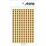 エーワン(A-one) カラーラベル 赤 丸型 5mmφ 9シート(1,800片) 07061