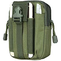 WISTOM Multi-Purpose Poly Tool Holder Waist Bag Tactical Pouch Utility Gadget Belt with Cell Phone Holster