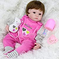 Reborn Baby Alive 17-Inch Silicone Girl Doll Look Real Kids Playmate Toy Gifts by NPK