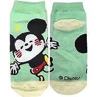 ディズニーソックス Mickey&Friends ミッキーマウス しあわせ グリーン?オレンジ 22cm~24cm AWDS4311