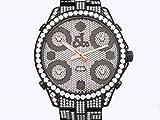 ジェイコブ ファイブタイムゾーン JC-30BLDCB 全面ダイヤモンド メンズ 腕時計 [並行輸入品]