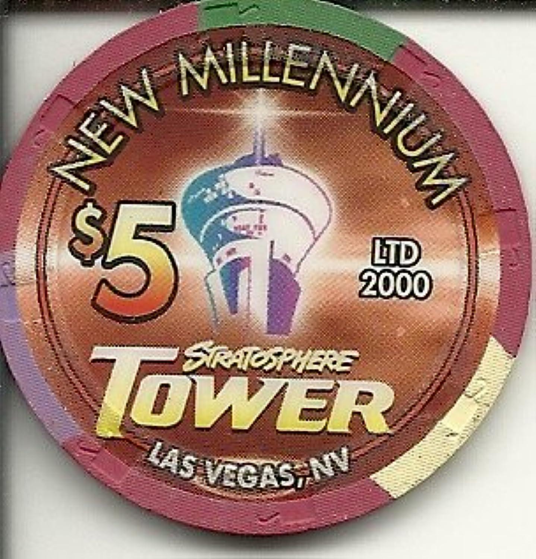 $ 5 StratosphereタワーVintage Rareラスベガスカジノチップ