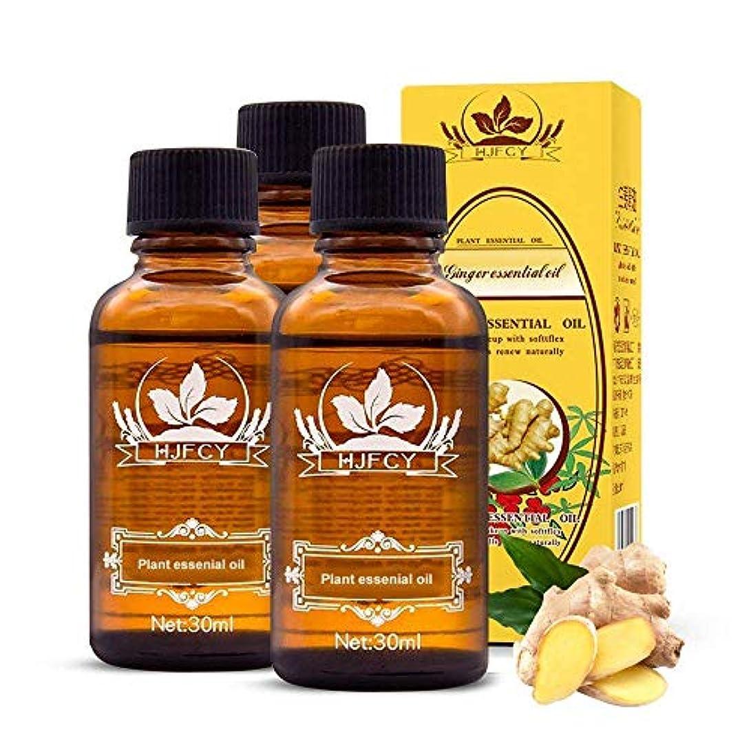 平衡祝福する女王4PCS ジンジャーエッセンシャルオイル、ジンジャーオイルオーガニック、ジンジャーオイル、マッサージオイル、100%ピュアナチュラルジンジャーオイル (4PCS)