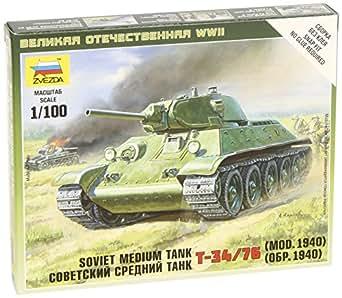 ズベズダ 1/100 ソビエト戦車T-34/76 プラモデル ZV6101