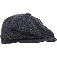 Mens 8 Panel Wool Blend Newsboy Cap
