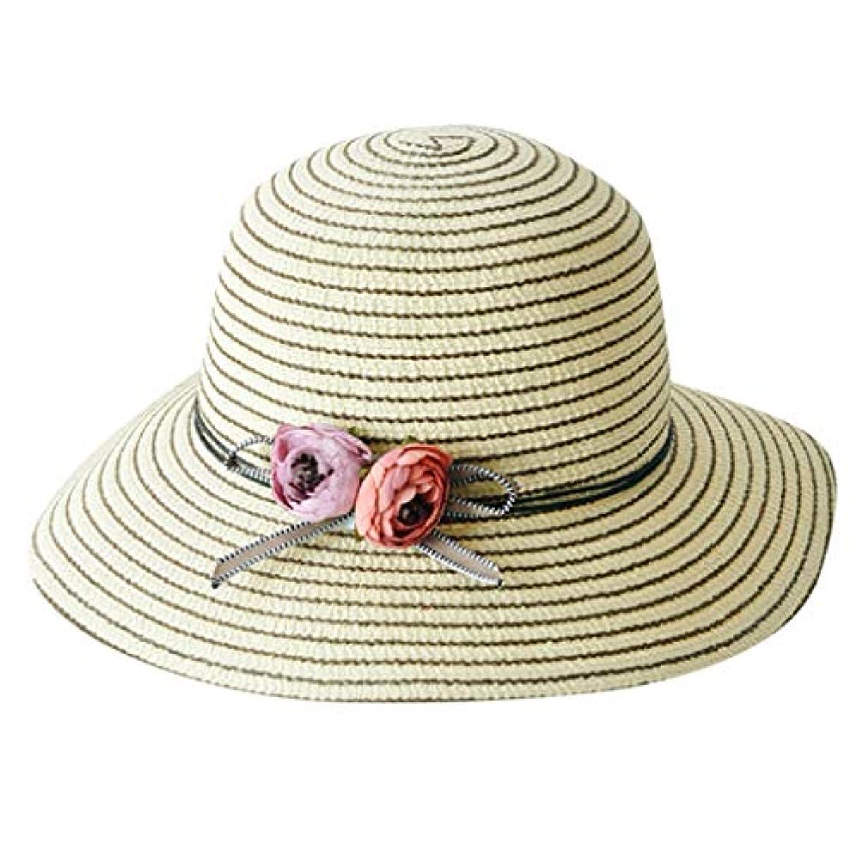 入手します構成固有の帽子 レディース 漁師帽 夏 UVカット 帽子 綿糸 ハット レディース 紫外線100%カット UV ハット 可愛い 小顔効果抜群 日よけ 折りたたみ つば広 小顔効果抜群 折りたたみ 海 旅行 ROSE ROMAN