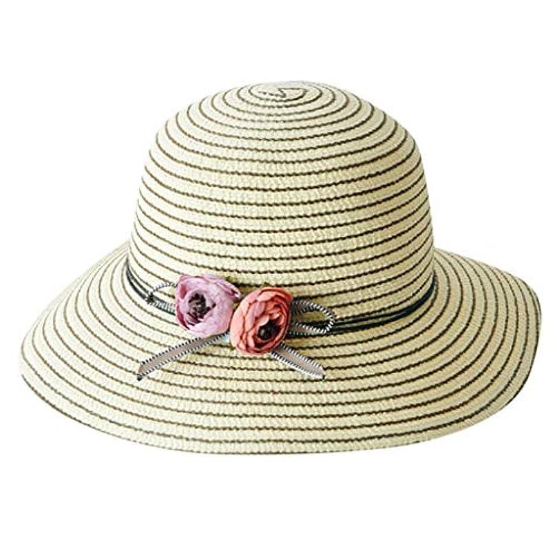 化学者単にレスリング帽子 レディース 漁師帽 夏 UVカット 帽子 綿糸 ハット レディース 紫外線100%カット UV ハット 可愛い 小顔効果抜群 日よけ 折りたたみ つば広 小顔効果抜群 折りたたみ 海 旅行 ROSE ROMAN