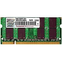 Transcend ノートPC用 PC2-5300(DDR2-667) 2GB 200pin SO-DIMM TS256MSQ64V6U