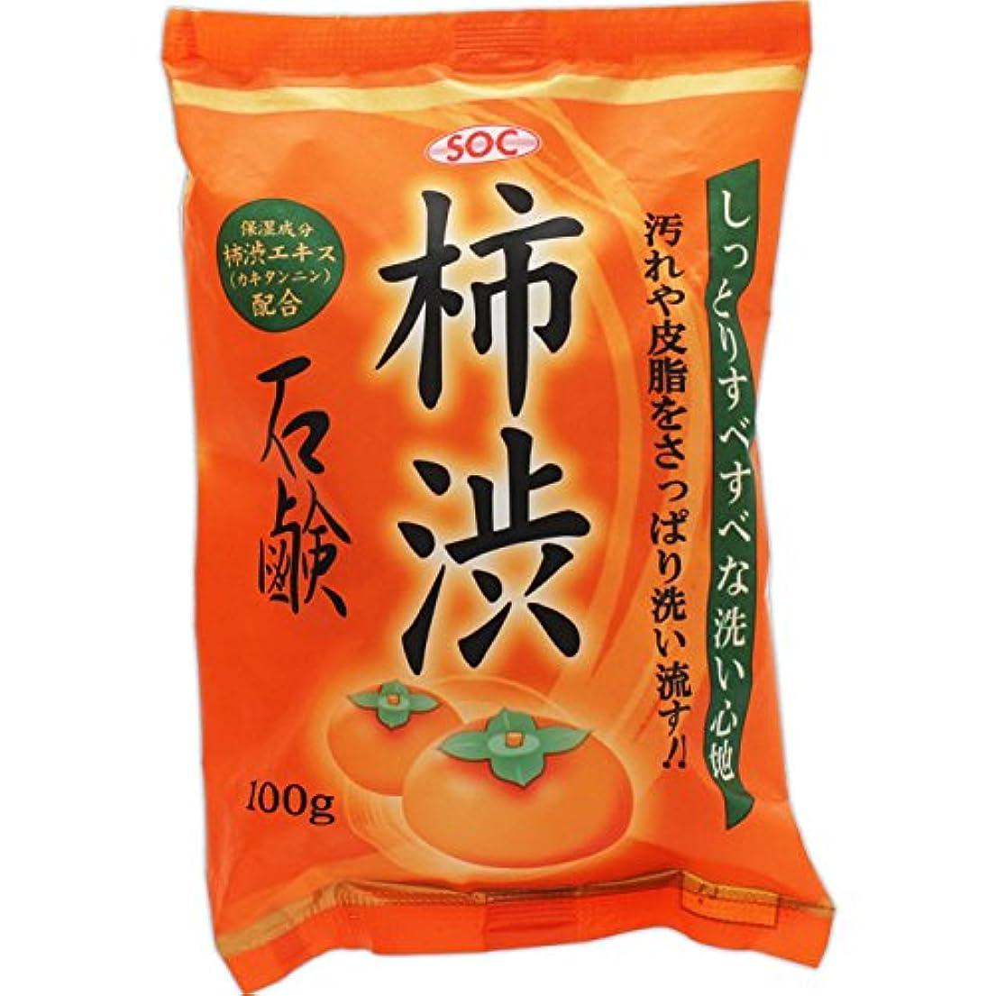 クランプカウントアップ階SOC 柿渋石鹸 100g