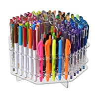 Marketing Holders Rotating Clear 120 Slot Table Top Counter Top Pen/Sharpie / Paint Brushes/Makeup Brushes/Lip Liner/Eye Liner Holder Display