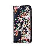 Wkae Case Cover 三星銀河A9用カード現金スロットとラインストーンPUレザーウォレットスタンドケースカバーと押すと花エンボス柄のケース ( Color : 1 , Size : Samsung Galaxy A9 )