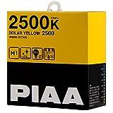 PIAA ( ピア ) ハロゲンバルブ 【ソーラーイエロー 2500K】 H1 12V55W 2個入り HY105