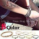 Wakami ワカミ ブレスレット Life is... Three Wrap Bracelet アンクレット メンズ レディース ペア ビーズ パーツ アクセサリー ロンハーマン Ron Herman 取扱ブランド