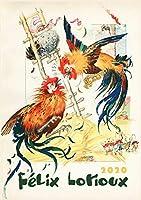 カレンダー 2020 [12 pages 20x30cm] Classic Fairy Tales Vintage レトロBook Illustration by Felix Lorioux