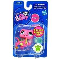 Hasbro Year 2009 Littlest Pet Shop Single Pack Special Edition Pet Series Bobble Head Pet Figure Set #1464 - Pink Alligator Crocodile with Bowl (#94576) by Littlest Pet Shop [並行輸入品]