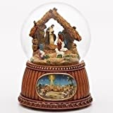 Christmas Nativity 100MM Musical Snow Globe Glitterdome - Plays Tune O'Holy Night