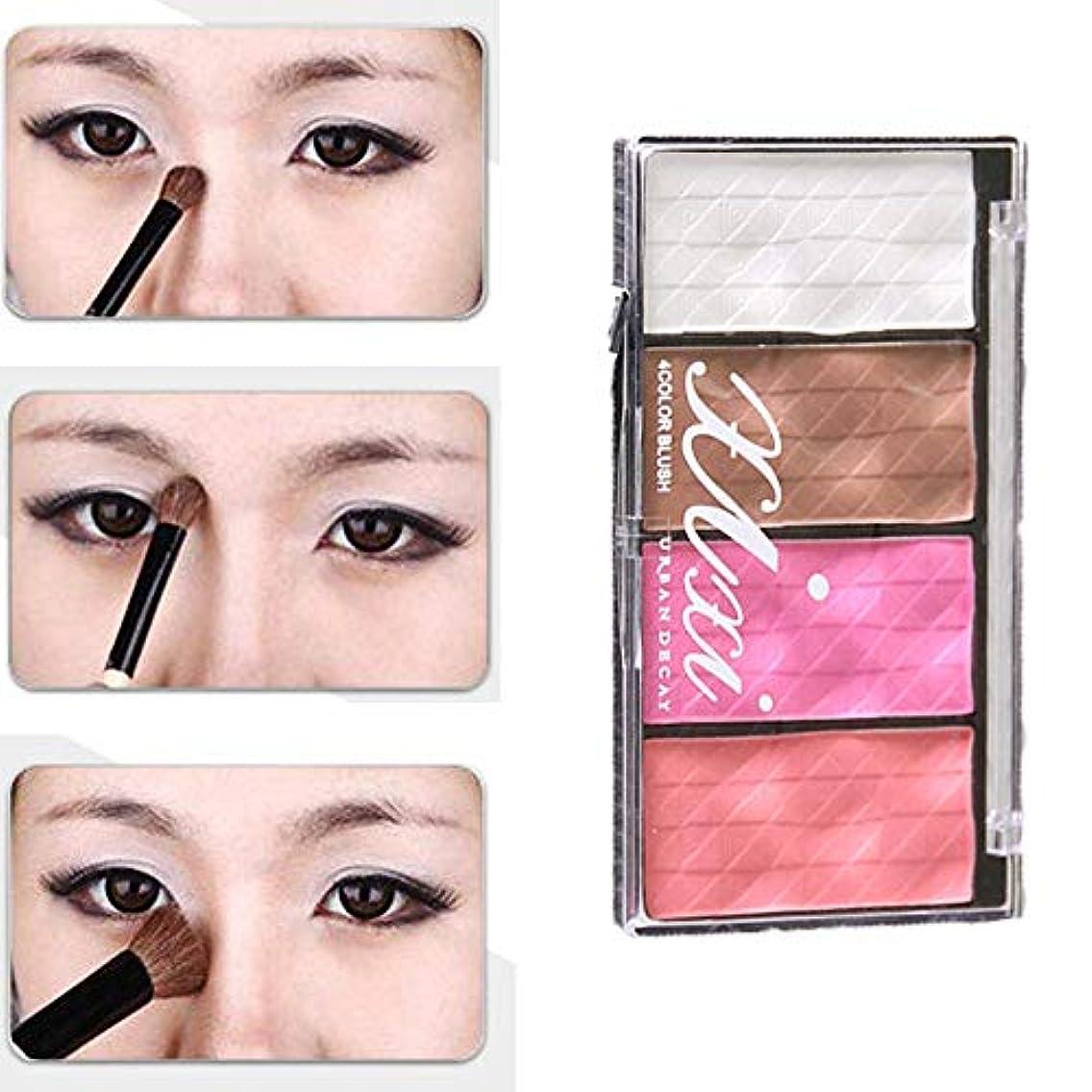 マイクメッセンジャー立場Akane アイシャドウパレット XIXI ファッション 魅力的 人気 美しい 綺麗 チャーム つや消し マット ブラシ付き 長持ち おしゃれ 持ち便利 日常 仕事 Eye Shadow (4色) X544
