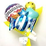 Congrats! バルーンブーケ -Yellow 発表会、合格、卒業、入学、栄転、七五三 各種お祝いに