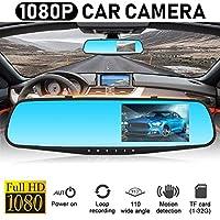 2019 3.5インチ1080PのフルHD車ドライビングビデオレコーダーDVRバックミラーカーナイトビジョンダッシュカムカメラ