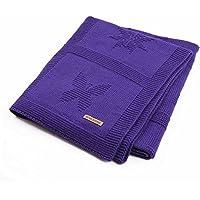 蝶編み沙滩垫子供用ビーチマットベビー毛布 (パープル)
