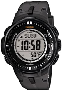[カシオ] 腕時計 プロトレック トリプルセンサーVer.3搭載 世界6局電波対応ソーラーアウトドアウォッチ PRW30001JF ブラック