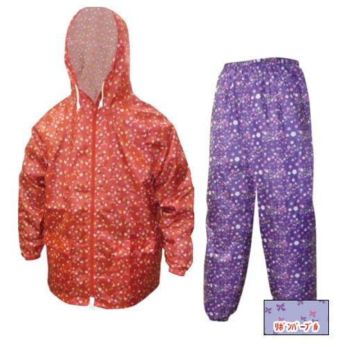 [해외]야마슈우 프린트 얏케 상하 세트 리본 | 퍼플 LL 700-701/Yamashi print Yakke top and bottom ribbon | purple LL 700-701