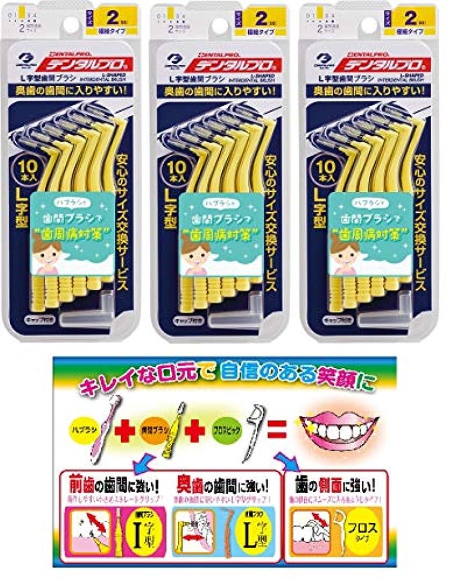 【Amazon.co.jp限定】DP歯間ブラシL字型10本入サイズ2 3P+リーフレット