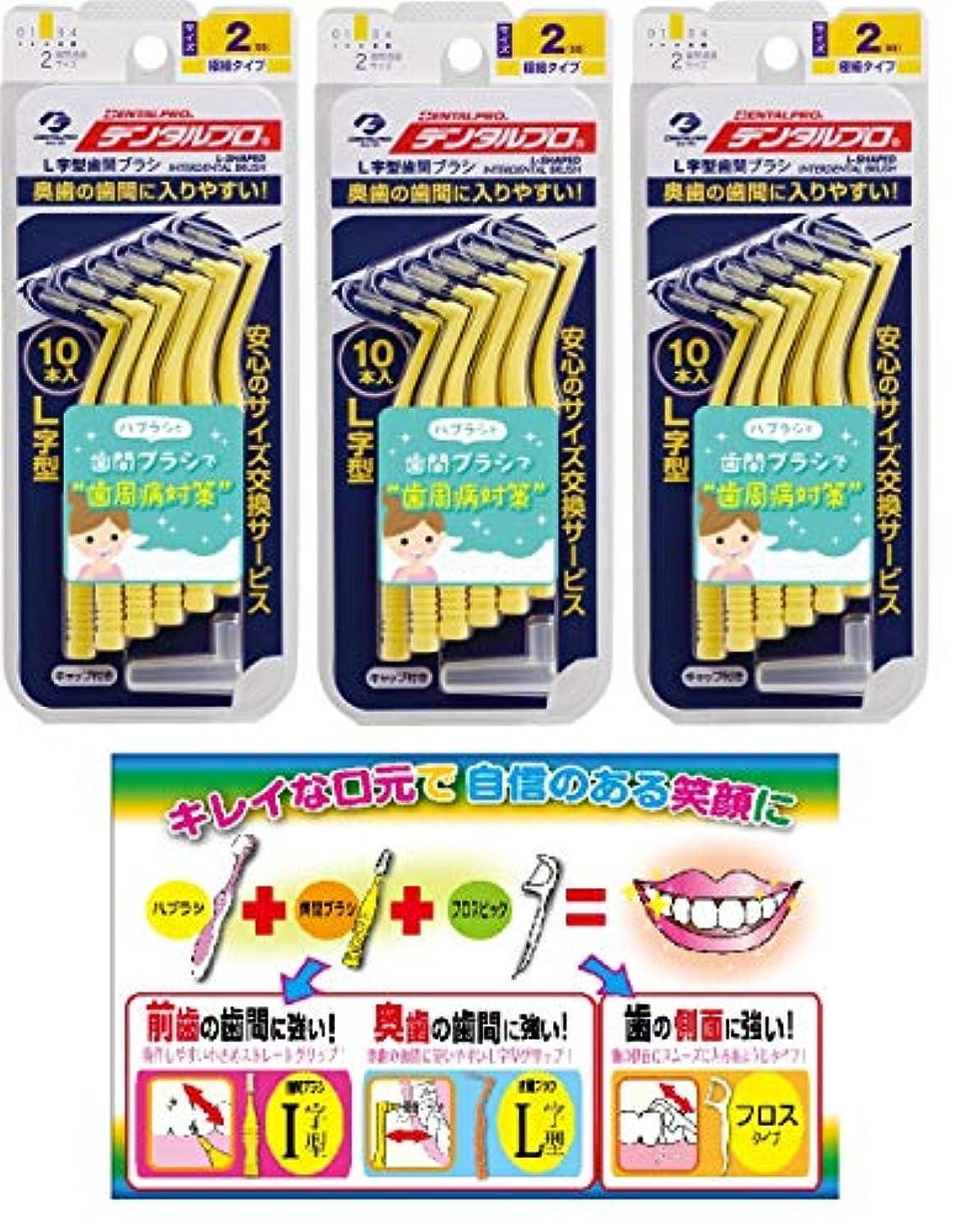 近々イルうぬぼれた【Amazon.co.jp限定】DP歯間ブラシL字型10本入サイズ2 3P+リーフレット
