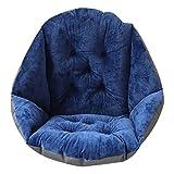 AOMACO クッション 座布団 座椅子 椅子 低反発 車 腰痛 ソファー キッチン 腰を包む座れる毛布 寒さ対策 冬用 腰サポーター 肌触りのよい ふわふわ 折り畳み式 ブラックベルト付き 防水(blue)