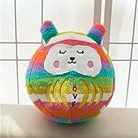 Keaner新生児幼児Roly - Poly ToysスモールサイズPear Wavyストライプ漫画人形タンブラーボール枕(蛍光カラーバー)